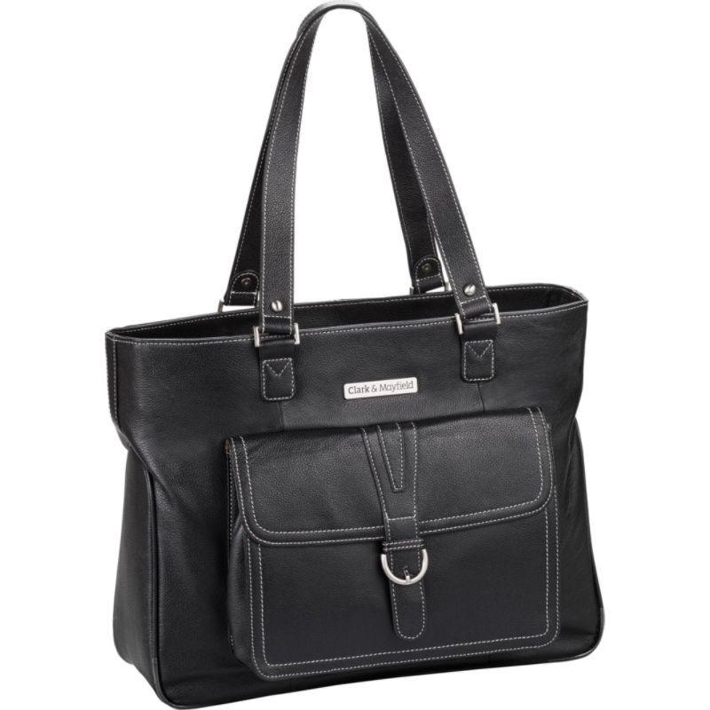 クラークアンドメイフィールド メンズ スーツケース バッグ Stafford Pro 17.3 Leather Laptop Tote Black