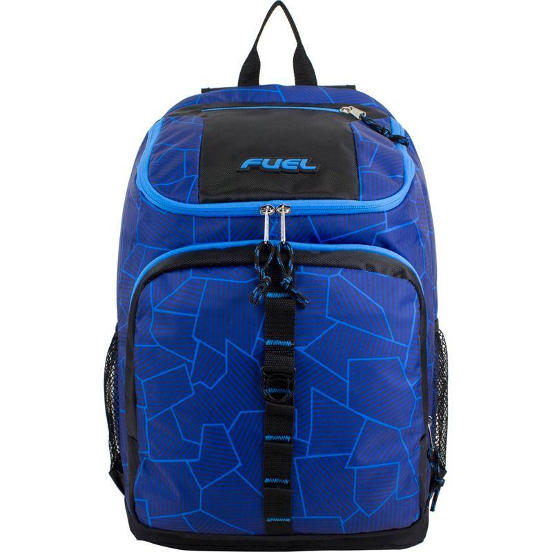 フュエル メンズ バックパック・リュックサック バッグ Wide Mouth Sports Backpack Blue Shattered Geo