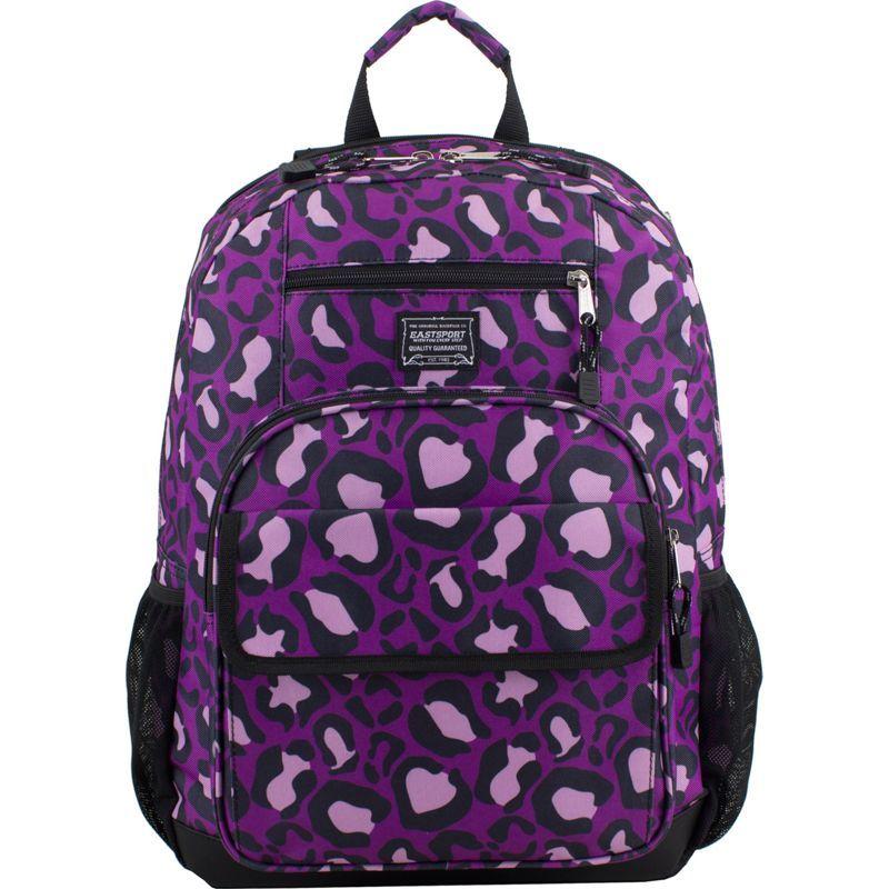 イーストポート メンズ バックパック・リュックサック バッグ Tech Backpack Purple Leopard Print