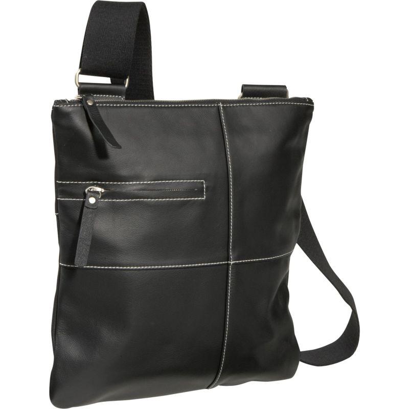 アメリ メンズ ボディバッグ・ウエストポーチ バッグ Slim Cross-Body Messenger Bag Black