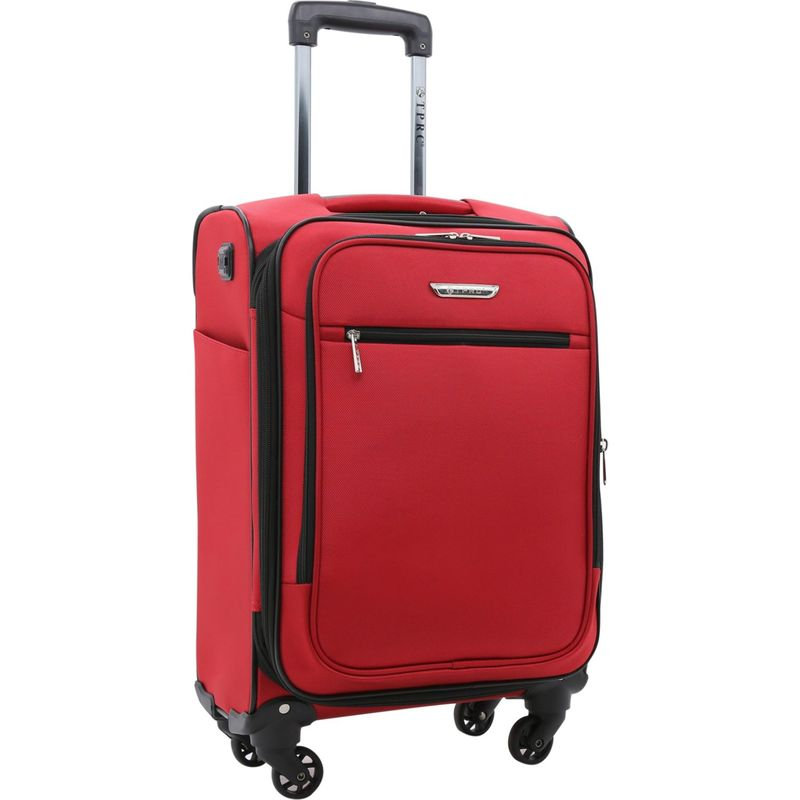 トラベラーズクラブ メンズ スーツケース バッグ Sabre 20 Embedded USB Port Expandable Carry-On Spinner - EXCLUSIVE Red