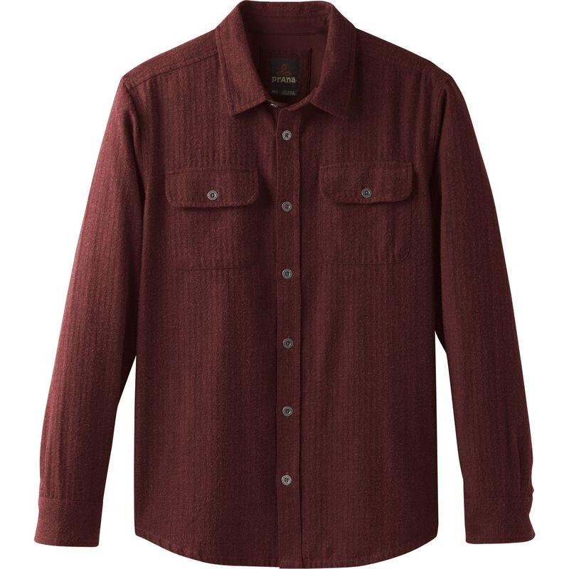 プラーナ メンズ シャツ トップス Lybeck Shirt Mulled Wine Herringbone