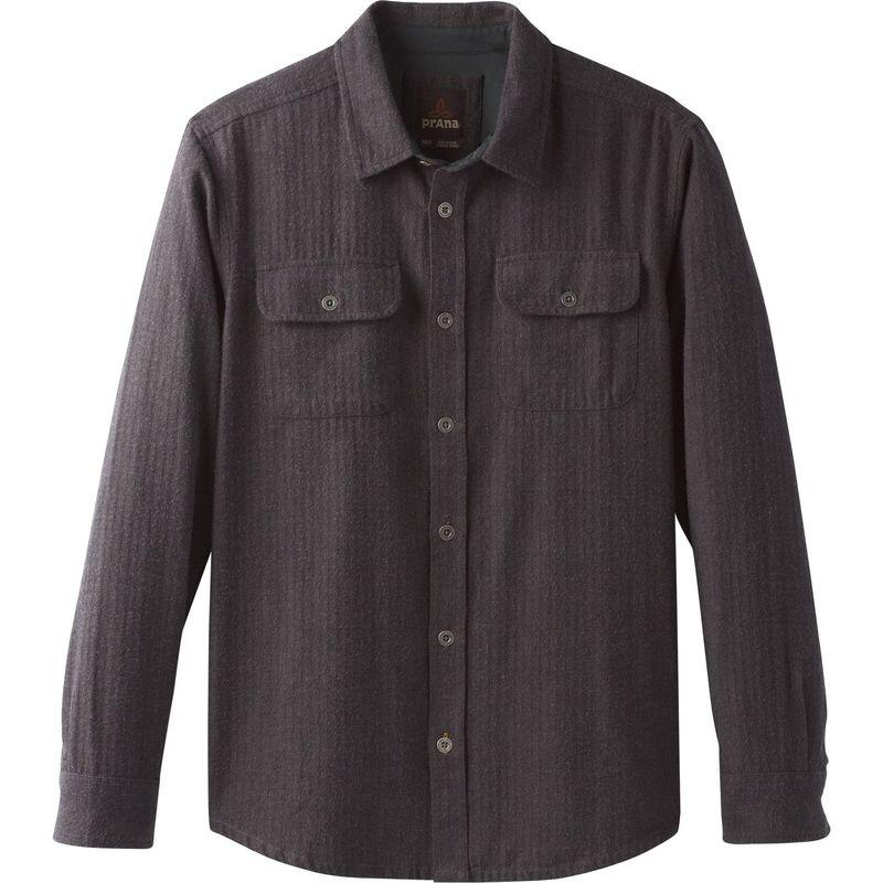 プラーナ メンズ シャツ トップス Lybeck Shirt Scorched Brown Herringbone