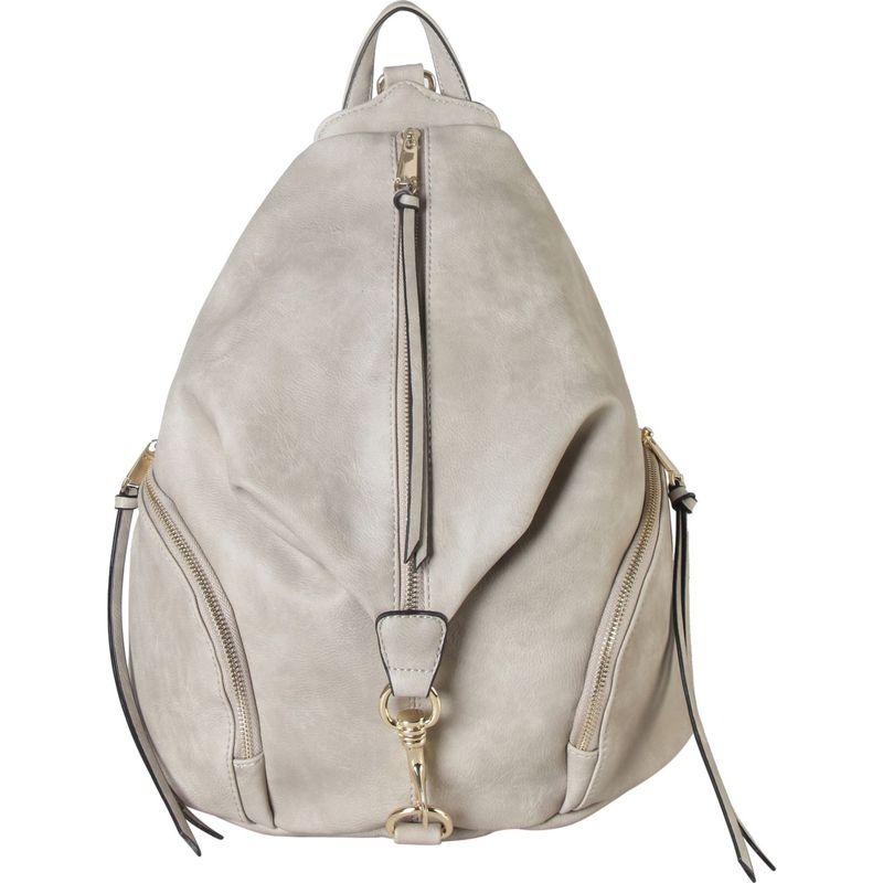ディオフィ メンズ バックパック・リュックサック バッグ Duel Side Zipper Pocket Fashion Backpack Grey