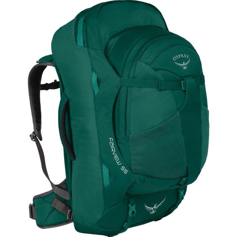 オスプレー レディース バックパック・リュックサック バッグ Women's Fairview 55L Travel Backpack Rainforest Green XS/S