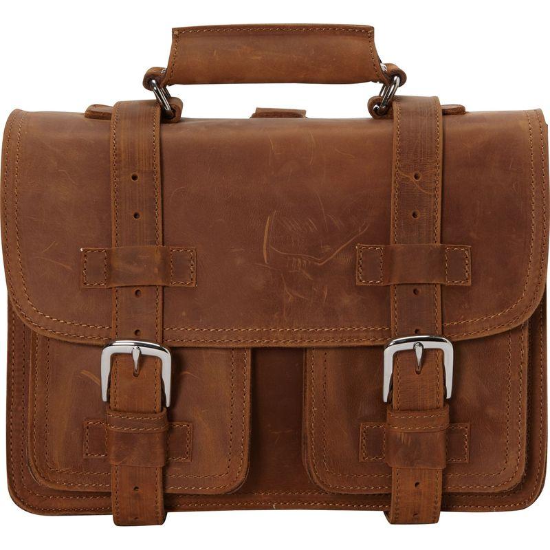 ヴァガボンドトラベラー メンズ スーツケース バッグ 14 Medium CEO Leather Briefcase/Backpack Tote Vintage Brown