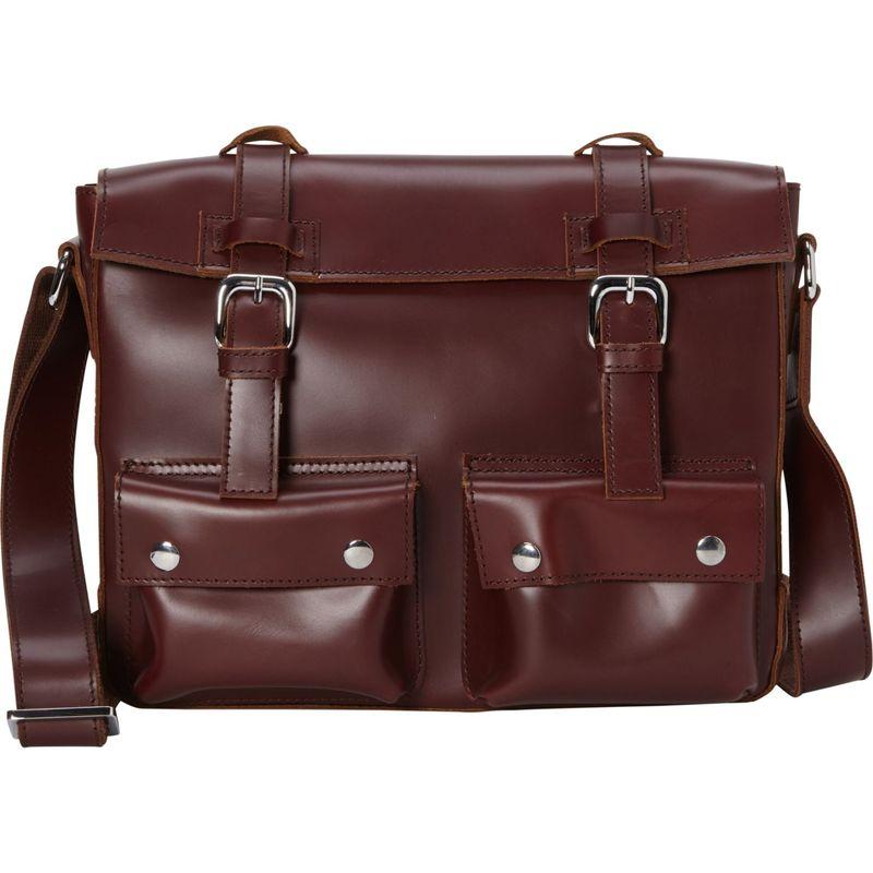 ヴァガボンドトラベラー メンズ ショルダーバッグ バッグ 13.5 Cowhide Leather Messenger Shoulder Bag Wine Red