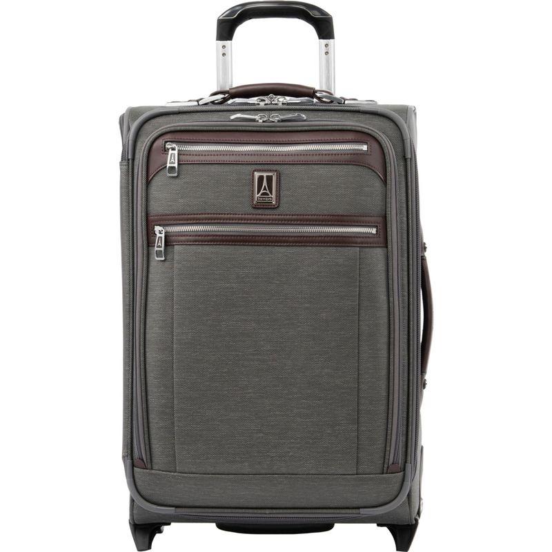 トラベルプロ メンズ スーツケース バッグ Platinum Elite 22 Expandable Carry-On Rollaboard with USB Port Vintage Grey