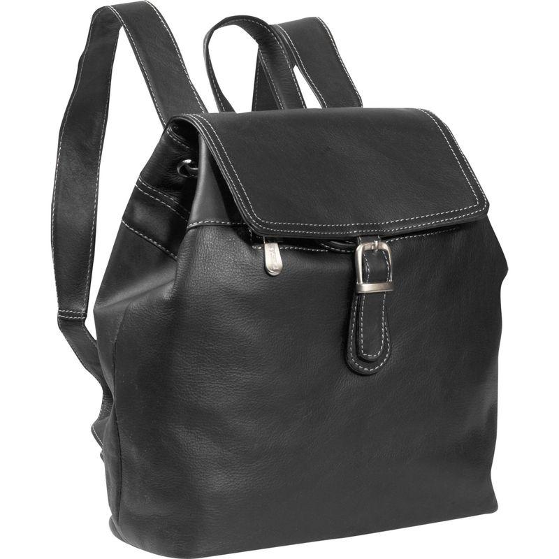 ピエール メンズ バックパック・リュックサック バッグ Top FLap Drawstring Backpack Black