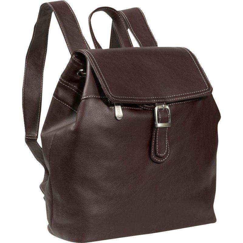 ピエール メンズ バックパック・リュックサック バッグ Top FLap Drawstring Backpack Chocolate