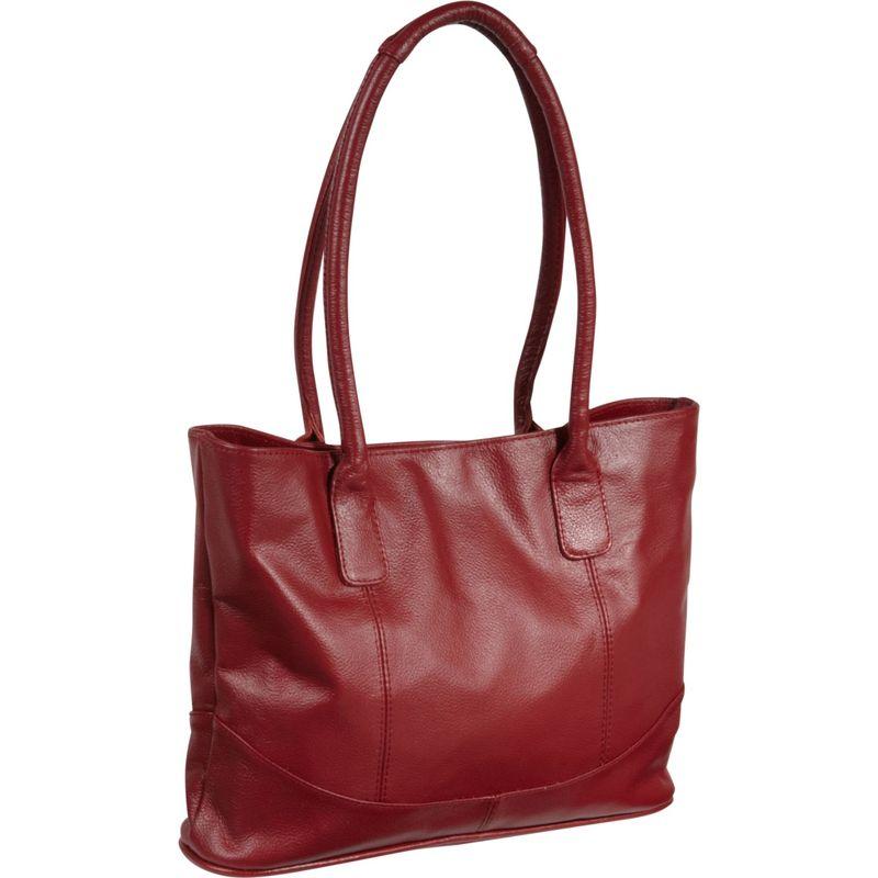アメリ メンズ トートバッグ バッグ Casual Leather Tote Red
