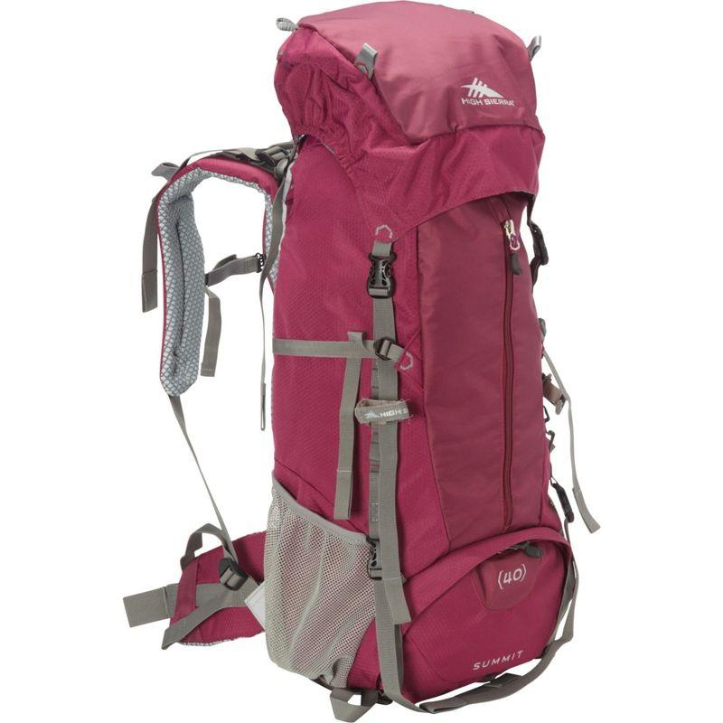 ハイシエラ レディース バックパック・リュックサック バッグ Women's Summit 40 Backpacking Pack Boysenberry/Boysenberry/Ash