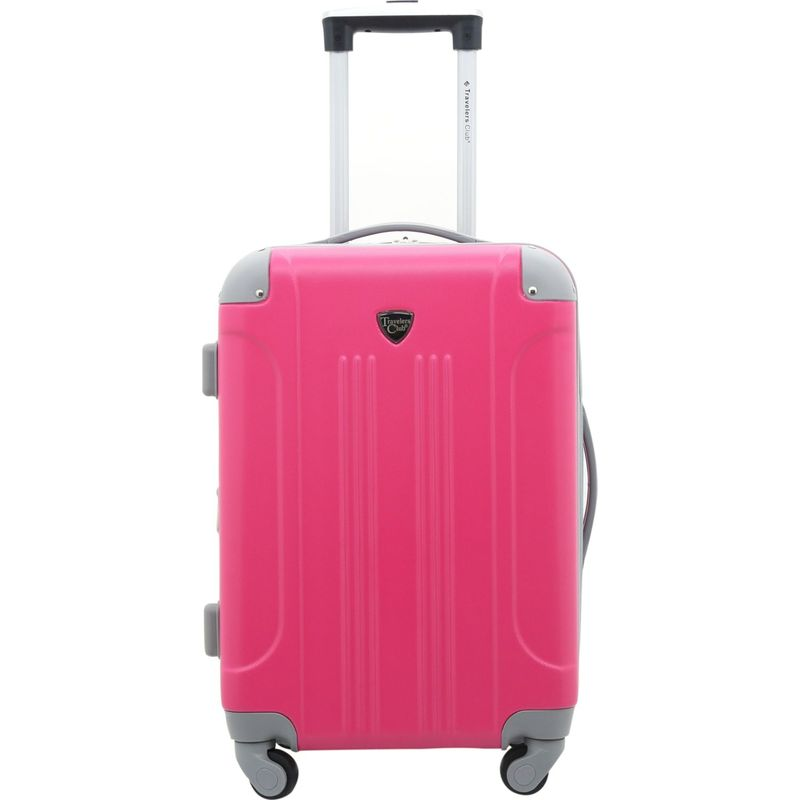 トラベラーズクラブ メンズ スーツケース バッグ Modern 20 Hardside Expandable Carry-On Spinner - EXCLUSIVE Pink Yarrow