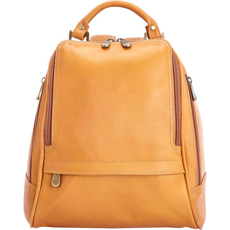 ロイスレザー レディース バックパック・リュックサック バッグ Women's Colombian Leather Sling Backpack Tan