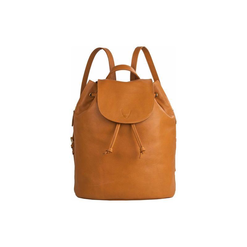 ハイデザイン メンズ バックパック・リュックサック バッグ Leah Leather Backpack Honey