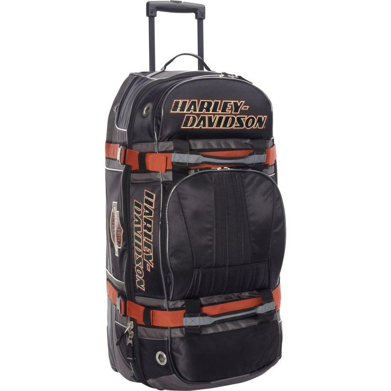 ハーレーダビッドソン メンズ スーツケース バッグ Harley Davidson 33 Wheeled Equipment Duffel Black