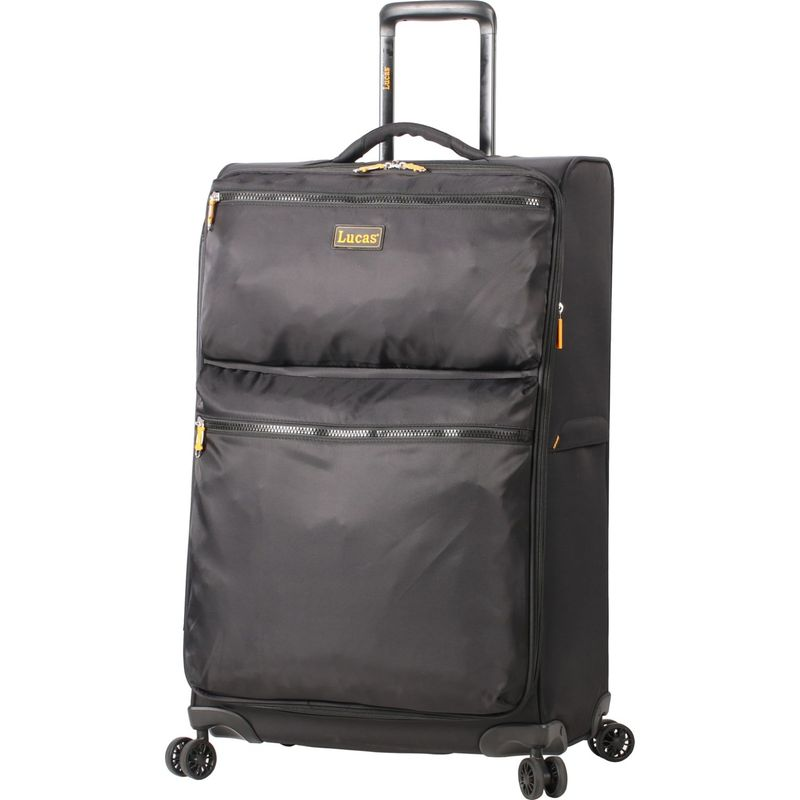 ルーカス メンズ スーツケース バッグ Ultra Light Weight Originals 24 Exp Spinner Black