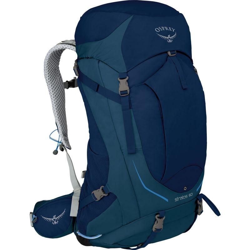 オスプレー メンズ バックパック・リュックサック バッグ Stratos 36 Hiking Pack Eclipse Blue S/M