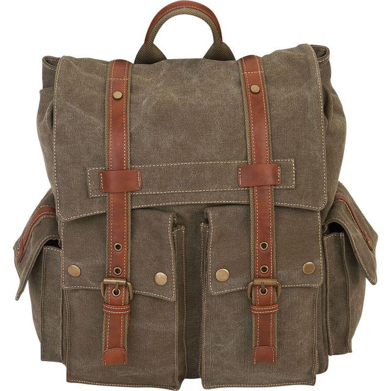 サンアンドサンド メンズ バックパック・リュックサック バッグ Deacon Backpack Military Green