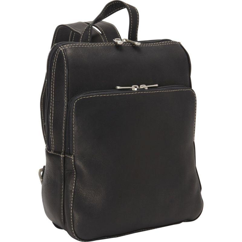 ピエール メンズ バックパック・リュックサック バッグ Slim Front Backpack Black