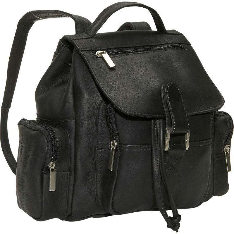 デビッドキング メンズ バックパック・リュックサック バッグ Mid Size Top Handle Backpack Black
