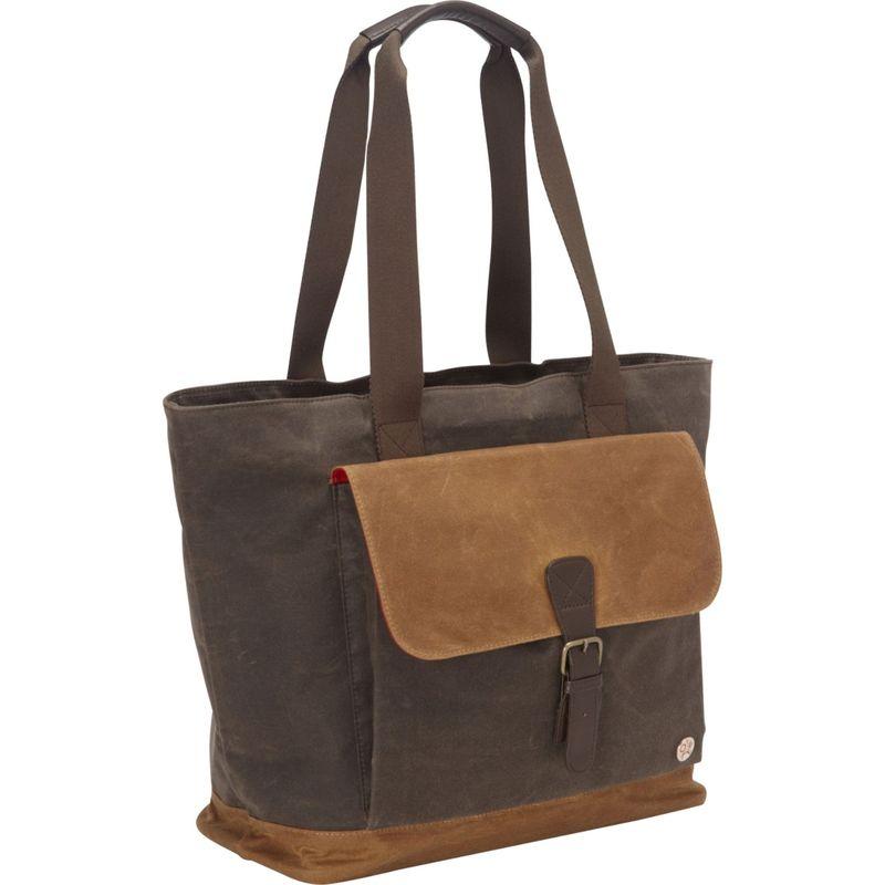 トーケン メンズ トートバッグ バッグ Waxed Montague Tote Bag Dark Brown/Field Tan