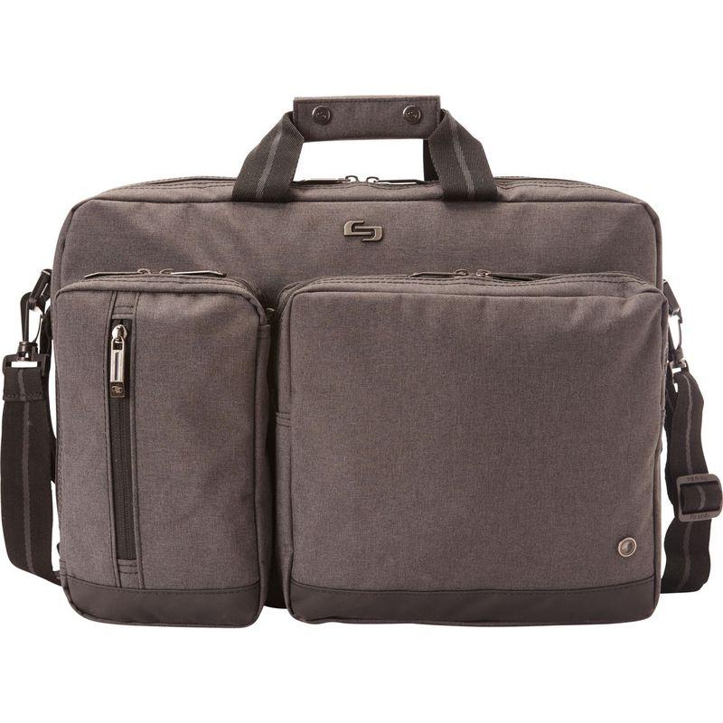ソロ メンズ スーツケース バッグ 15.6 Laptop Hyrbid Briefcase Backpack Gray