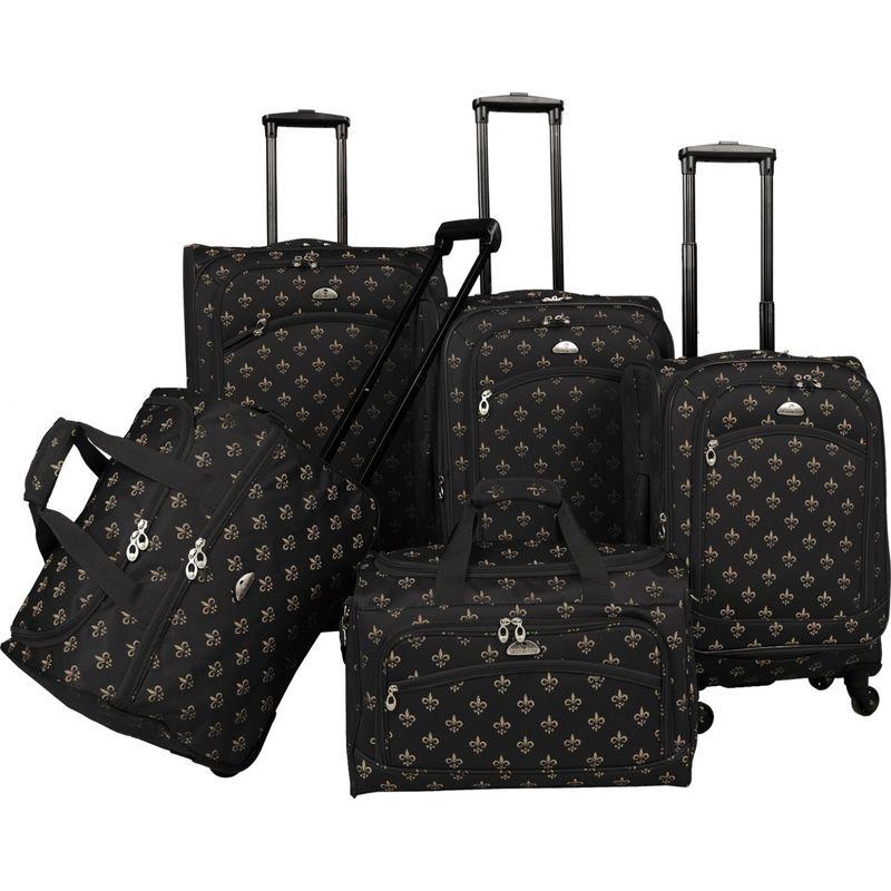 アメリカンフライアー メンズ スーツケース バッグ Fleur de lis 5-Piece Spinner Set Black