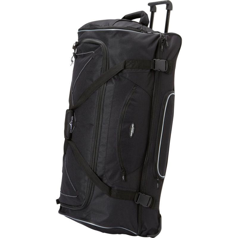 トラベラーズクラブ メンズ スーツケース バッグ Adventure 36 Rolling 2-Tone Multi-Pocket X-Large Packing Capacity Duffel Black
