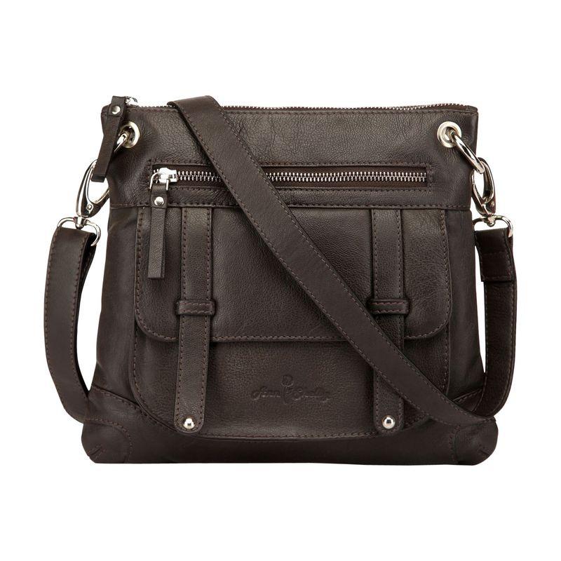 アンシェルビー メンズ ボディバッグ・ウエストポーチ バッグ Felice Leather Crossbody Bag Dark Brown