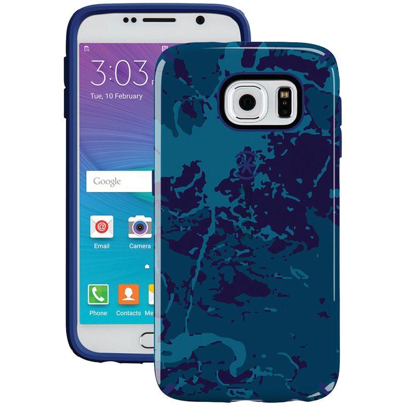 スペック メンズ PC・モバイルギア アクセサリー Samsung Galaxy S 6 Candyshell Inked Case Blue