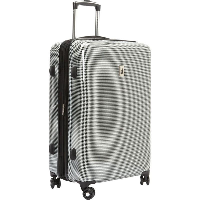 ロンドンフォグ メンズ スーツケース バッグ Cambridge 25 Expandable Hardside Spinner Black & White Houndstooth