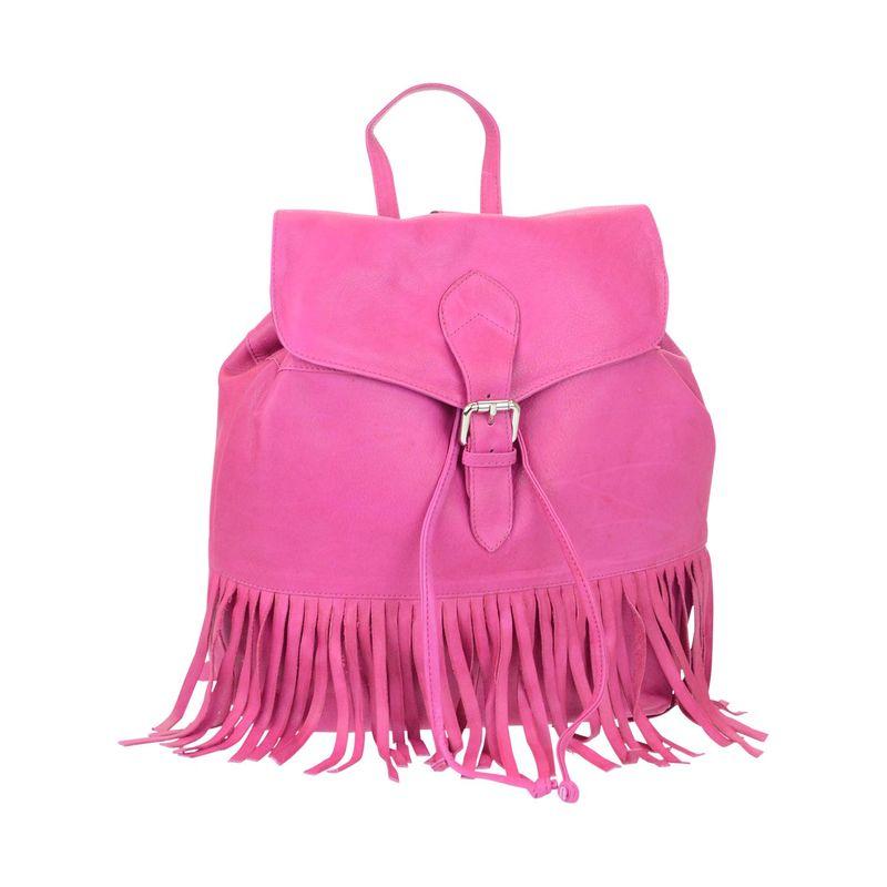 アールアンドアール メンズ バックパック・リュックサック バッグ Drawstring Fringed Backpack Pink