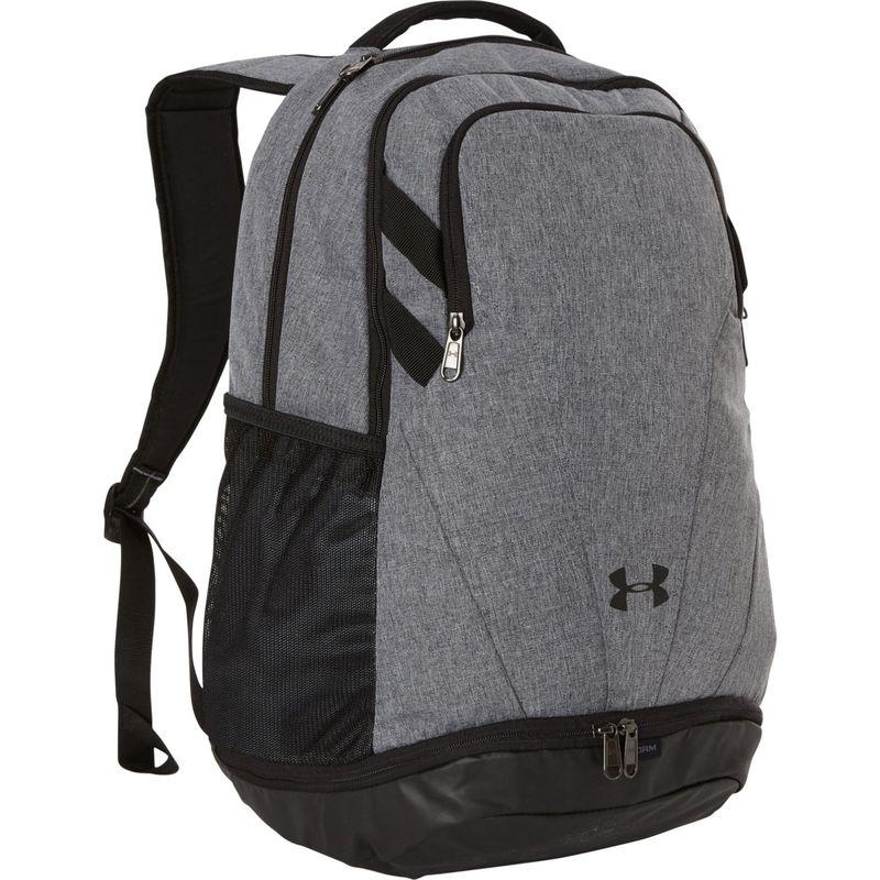 アンダーアーマー メンズ バックパック・リュックサック バッグ Team Hustle 3.0 Backpack Graphite Medium Heather/Black/White