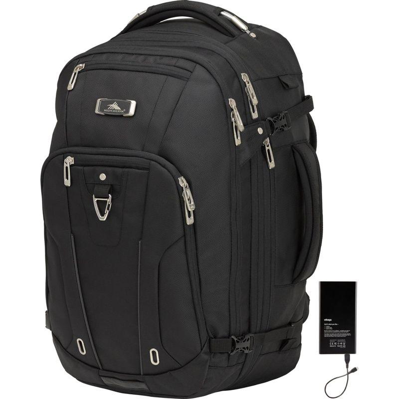 ハイシエラ メンズ バックパック・リュックサック バッグ Pro Series Travel Backpack w/Lifeboat Battery Black