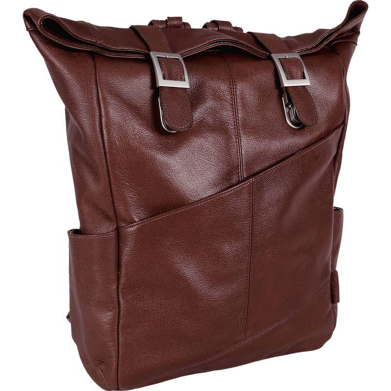 マックレイン メンズ バックパック・リュックサック バッグ Kennedy Dual Access Laptop Backpack Brown