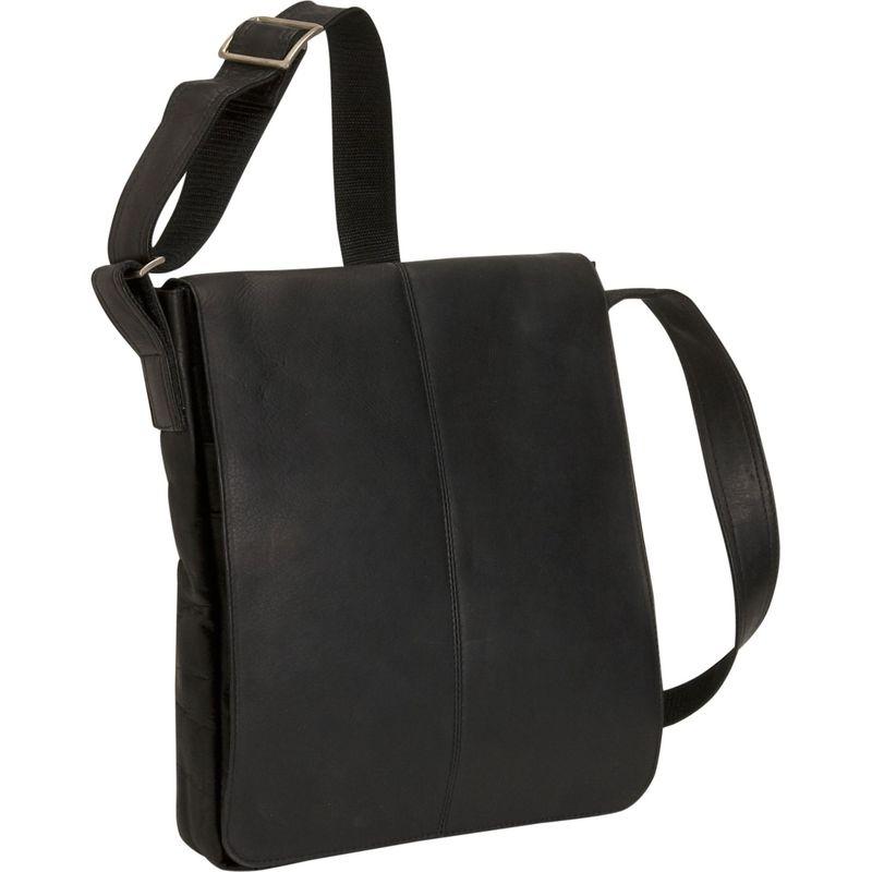 デビッドキング メンズ ショルダーバッグ バッグ Small Vertical Messenger Bag Black