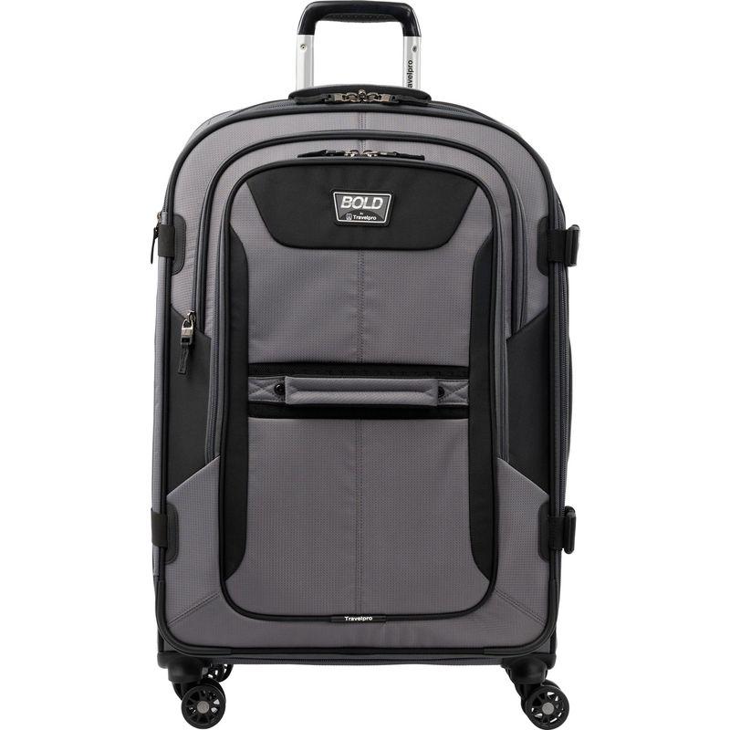 トラベルプロ メンズ スーツケース バッグ T-Pro Bold 2.0 26 Expandable Spinner Grey & black