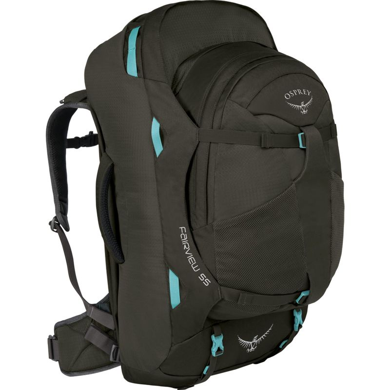 オスプレー レディース バックパック・リュックサック バッグ Women's Fairview 55L Travel Backpack Misty Grey - XS/S