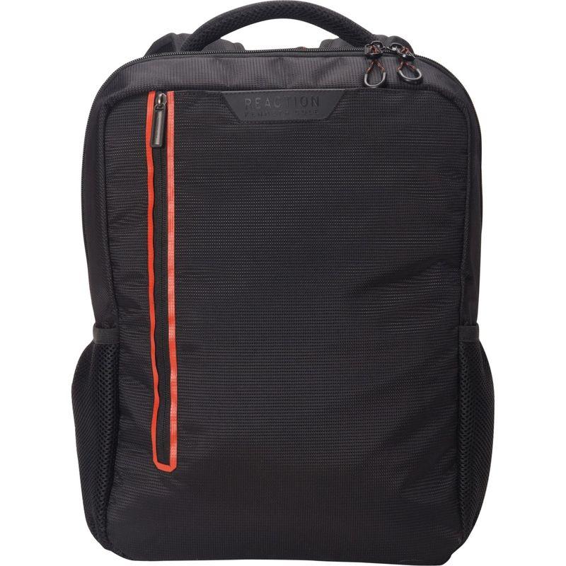 ケネスコール メンズ スーツケース バッグ Dayport Slim Dual Compartment 17 Laptop Backpack with Anti-Theft RFID - eBags Exclusive Black With Red Color Pop - Exclusive