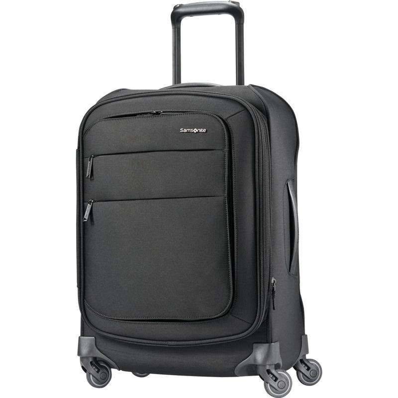 サムソナイト メンズ スーツケース バッグ Flexis 21 Expandable Spinner Carry-On w/USB Port Jet Black