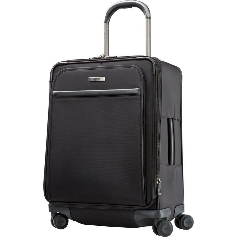 ハートマンラッゲージ メンズ スーツケース バッグ Metropolitan 2 Domestic Carry On Expandable Spinner Deep Black
