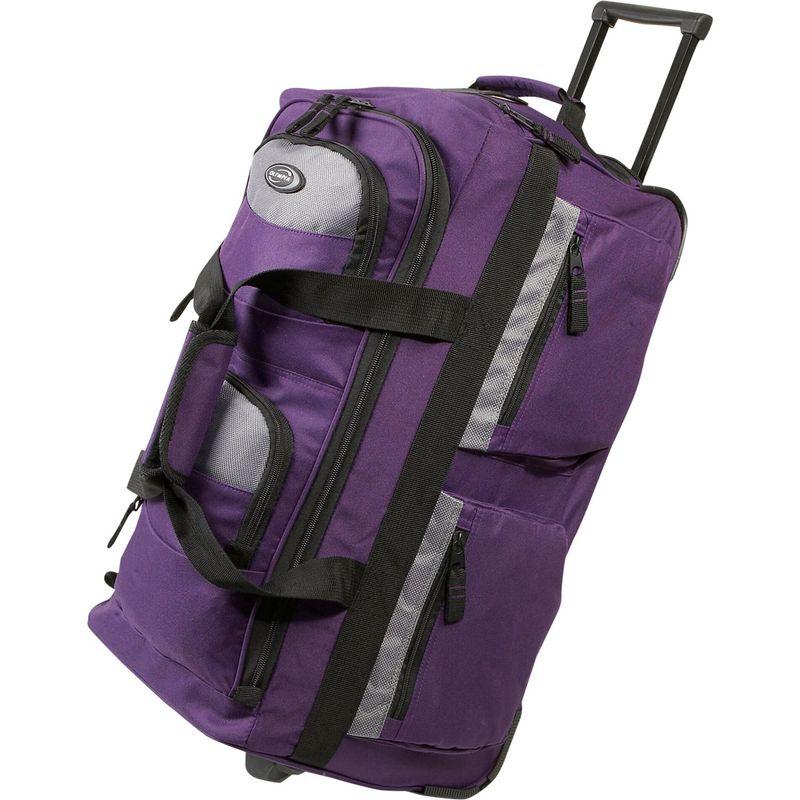 オリンピア メンズ スーツケース バッグ 22 8 Pocket Rolling Duffel Bag Dark Lavendar