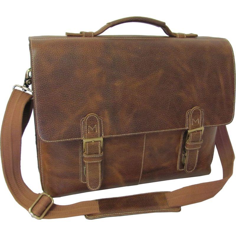 アメリ メンズ スーツケース バッグ Classical Leather Organizer Briefcase Brown
