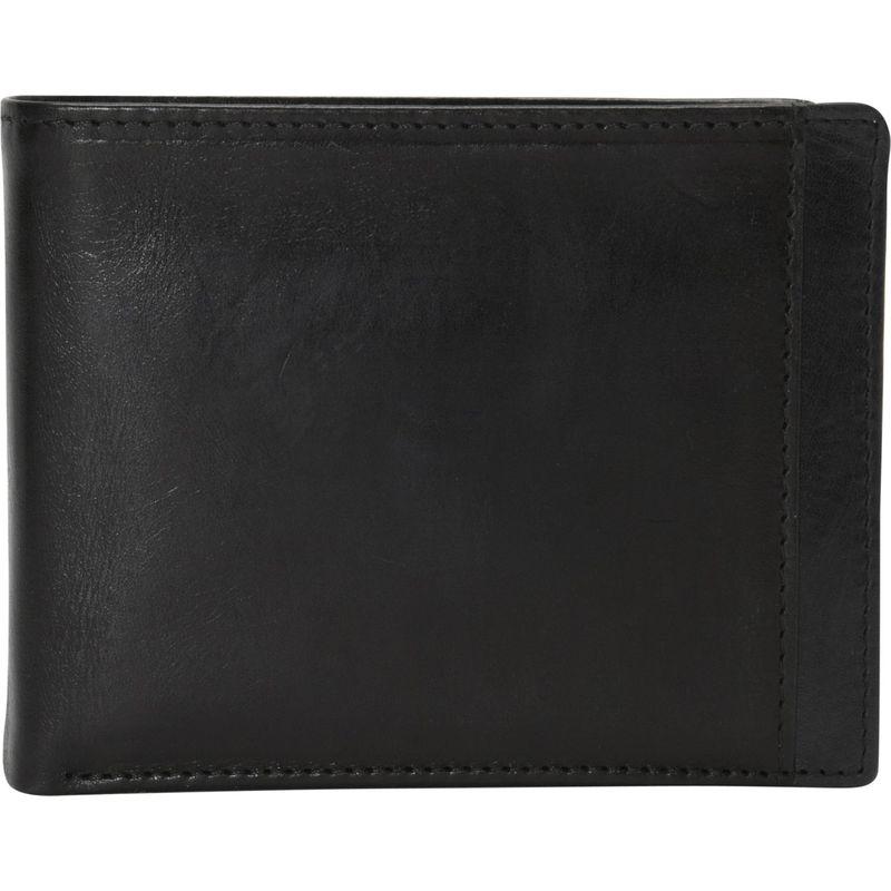 マンシニレザーグッズ メンズ 財布 アクセサリー Casablanca Collection: Men's RFID Wallet Billfold with Removable Passcase Black