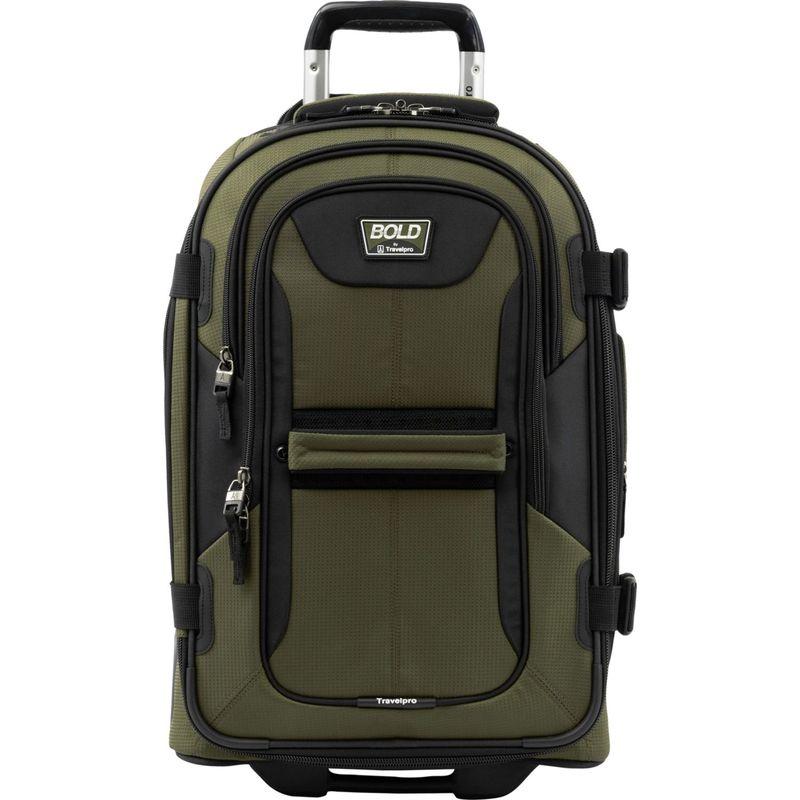 トラベルプロ メンズ スーツケース バッグ T-Pro Bold 2.0 22 Expandable Rollaboard Olive