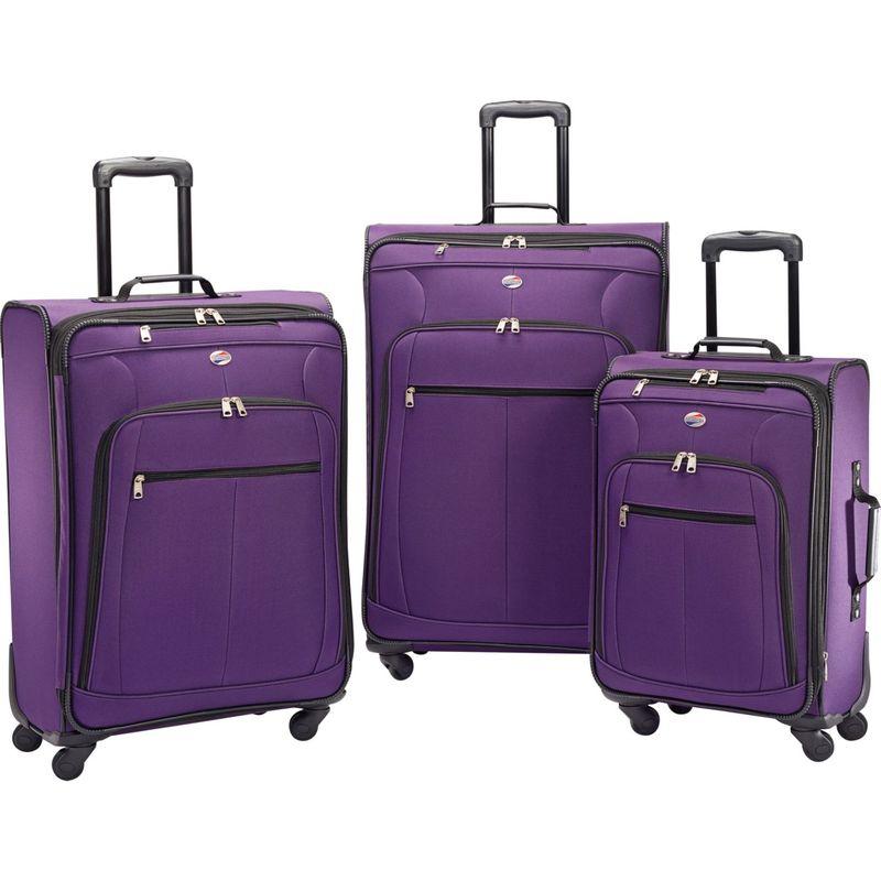 アメリカンツーリスター メンズ スーツケース バッグ Pop Plus 3pc Spinner Set Purple