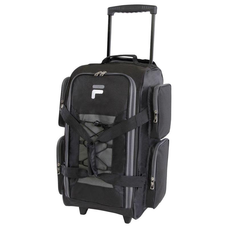 フィラ メンズ スーツケース バッグ 22 Lightweight Carry On Rolling Duffel Bag Black