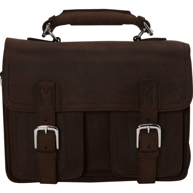 ヴァガボンドトラベラー メンズ スーツケース バッグ Pro Leather Briefcase Laptop Bag Dark Brown