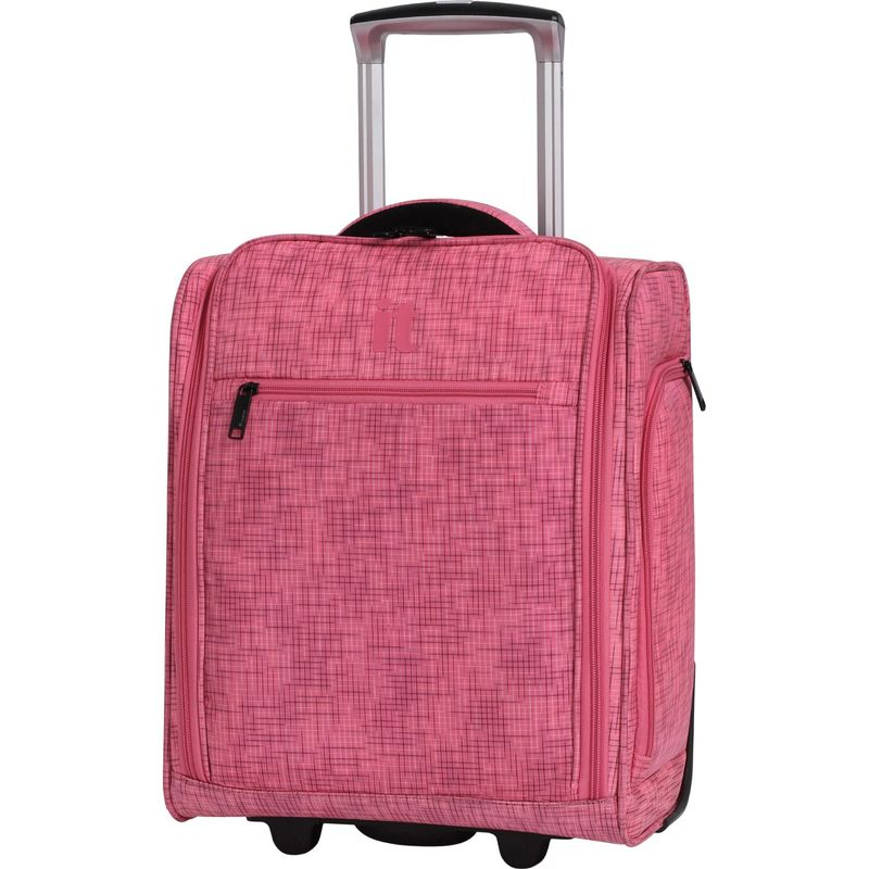アイティー メンズ スーツケース バッグ Stitched Squares 17.1 2 Wheel Lightweight Underseat Tote Camelia Rose
